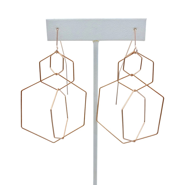 Hexagon Dangle Earring