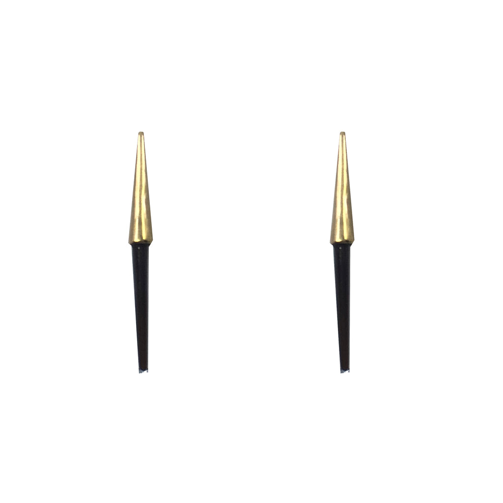 Petite Bionic Spike Quill Stud Earrings- 10K Yellow Gold