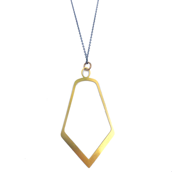 20K Gold Facet Pendant