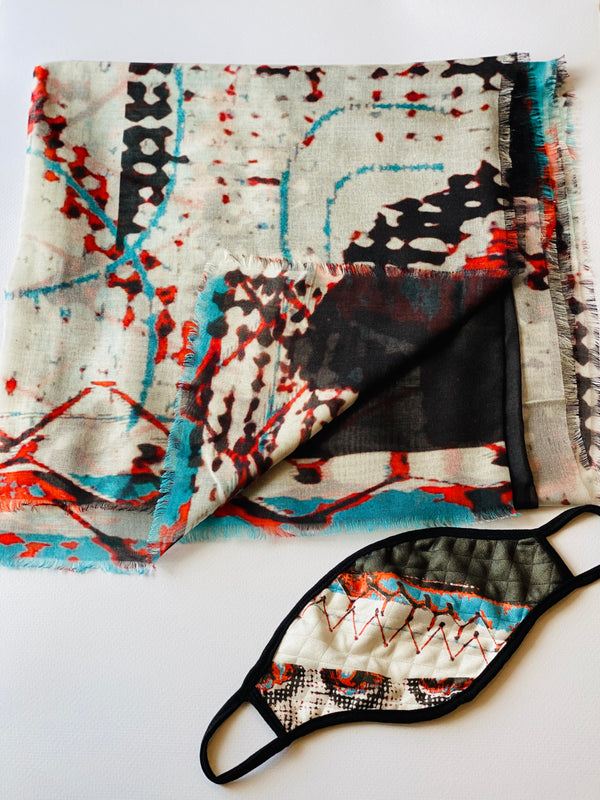 Stitches Modal Silk Scarf