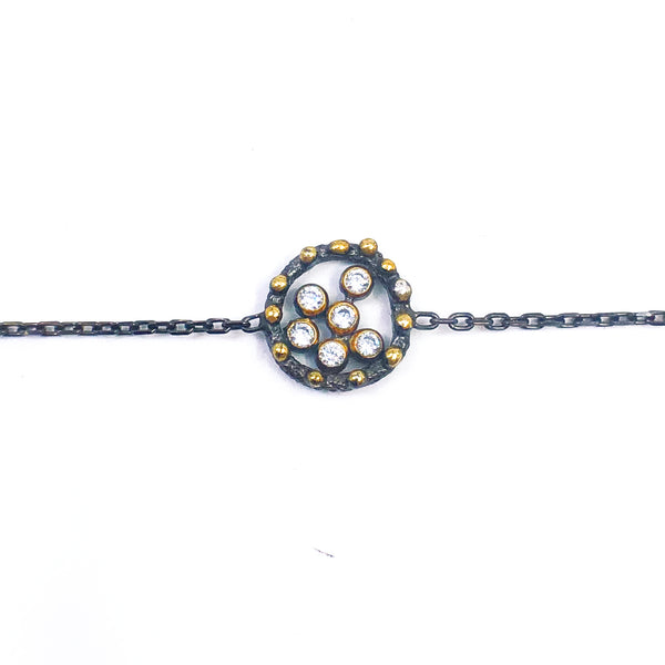 Oxidized Bubble Bracelet