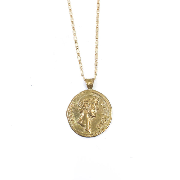Head of Caesar Coin Necklace