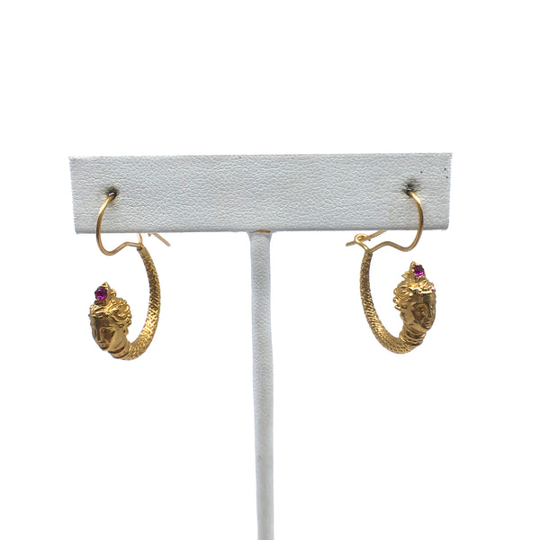 Shahmaran Hoop Earrings