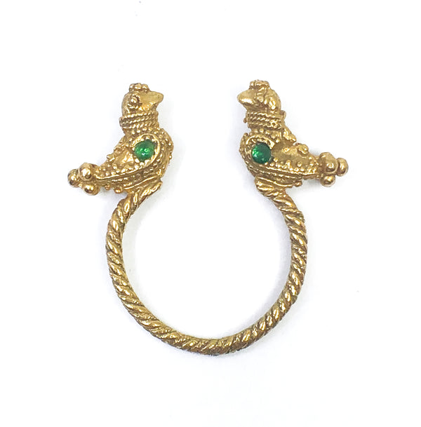Lucky Birds Brass Ring