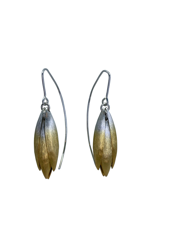 Mini Gold Ombre Petal Earrings