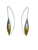 Ombre Oxidized Petal Earrings