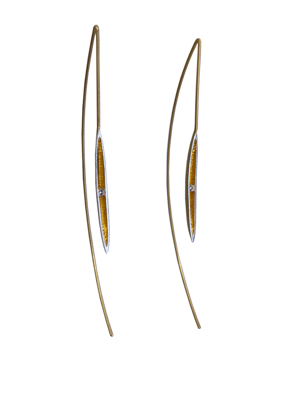 Crystal Canoe Threader Earrings