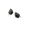 Large Acrylic Rock Earrings - Black