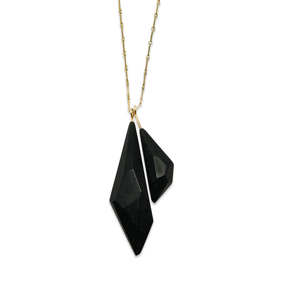 Acrylic Duo Pendant - Black