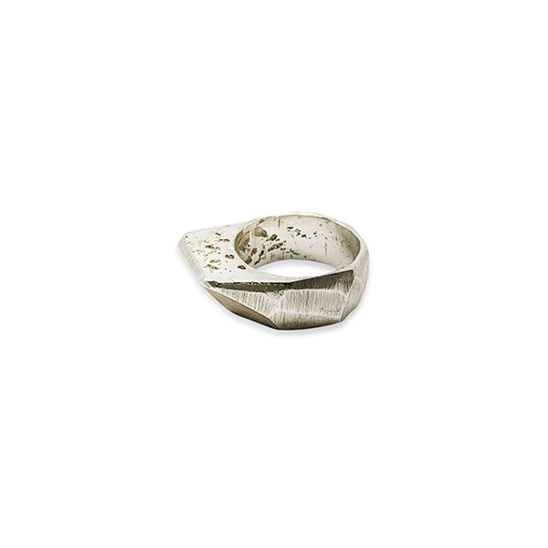 Raw Silver Ring