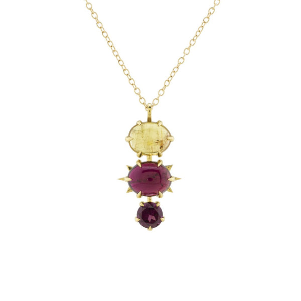 Honey and Wine Tourmaline Necklace