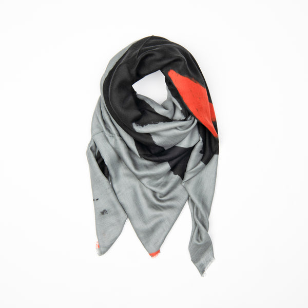 Pop of Orange Modal Silk Scarf