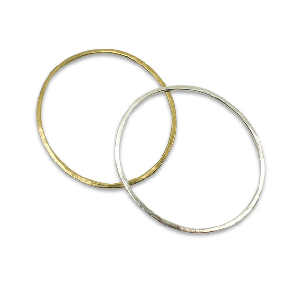 Hammered Oval Bangles