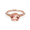 Hayley Ring in Morganite
