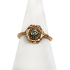 Rose Gold Hexagon Diamond Halo Ring