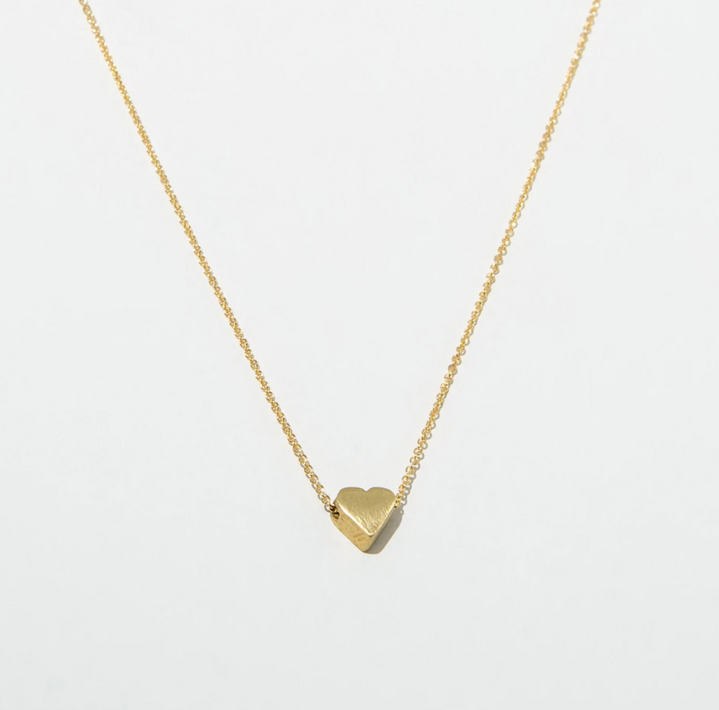 Brushed Heart Necklace
