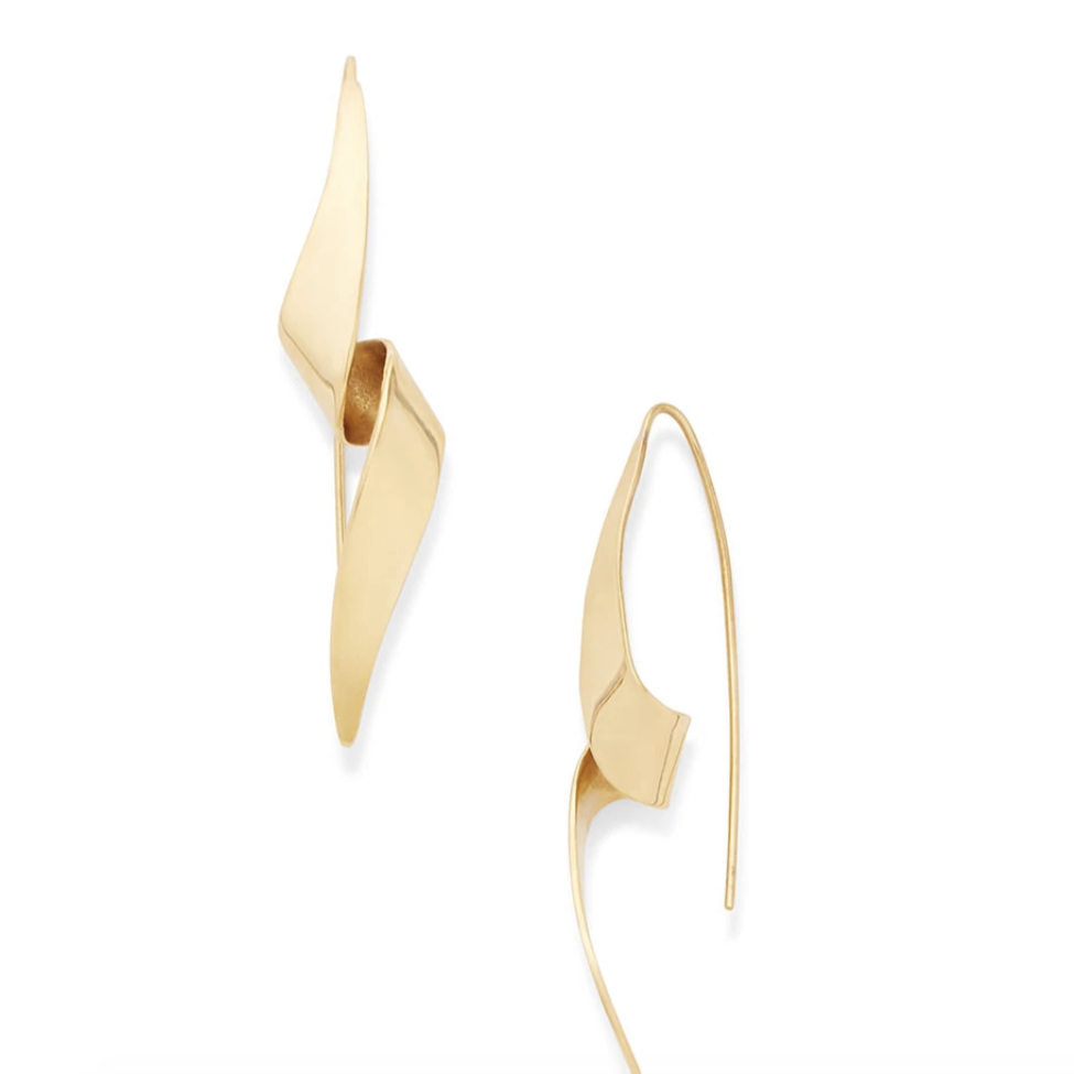 Threaded Ribbon Earrings