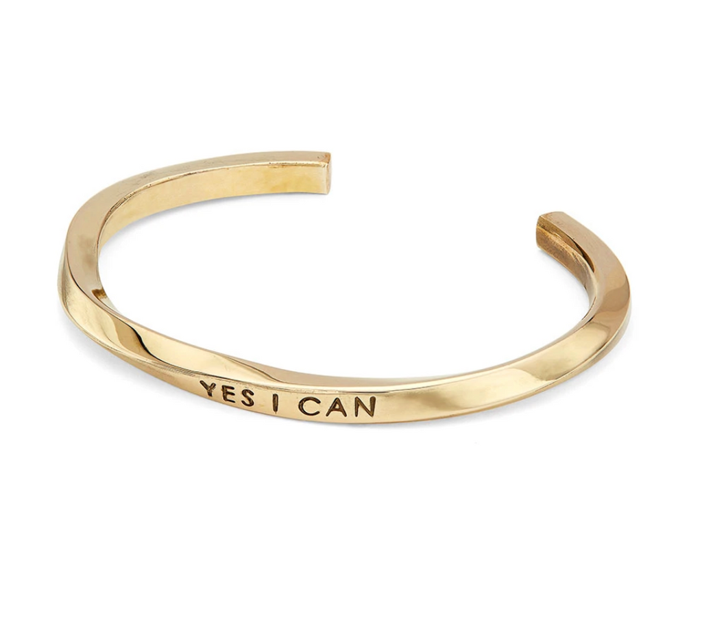 """Yes I Can"" Twist Cuff"