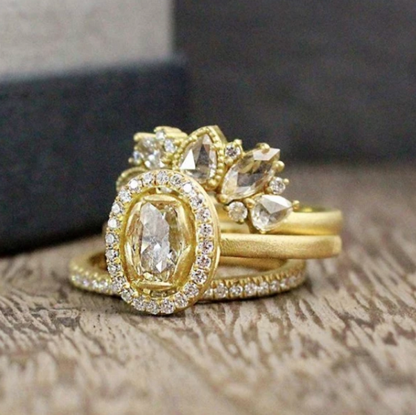 Signature Oval Petal Halo Ring