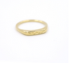 PREORDER Engraved Brass Olive Branch Ring