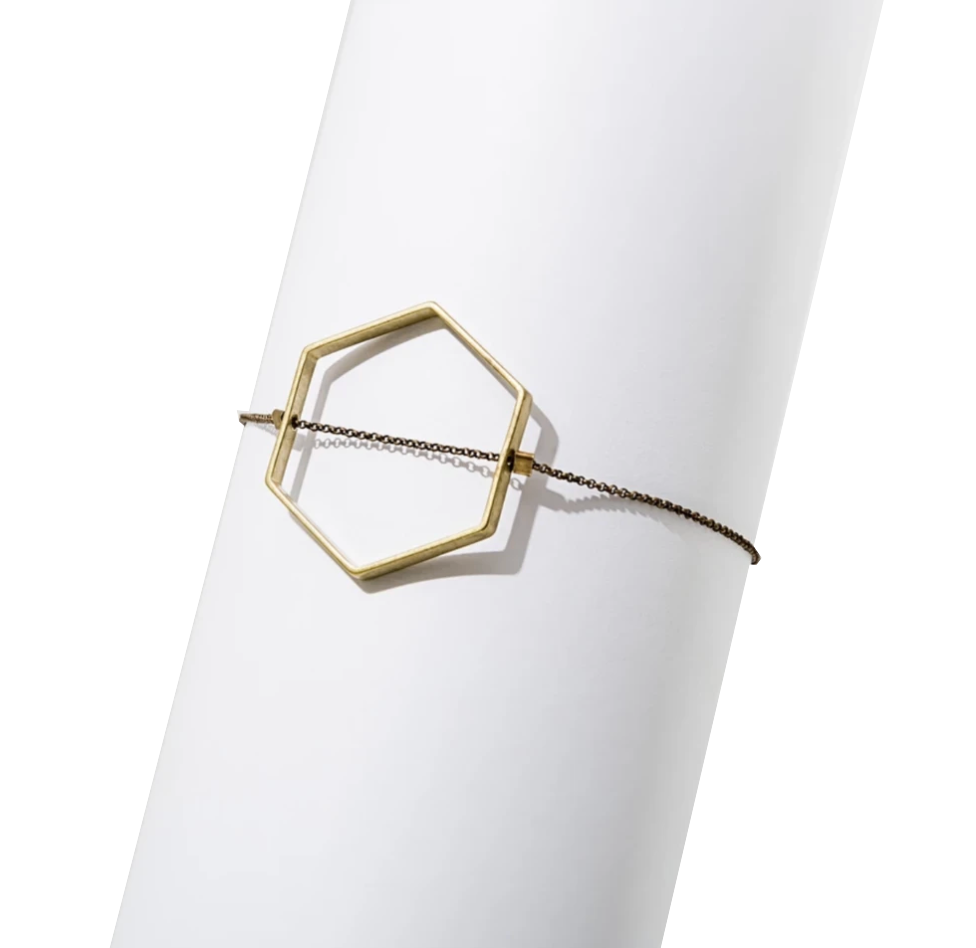 Open Hexagon Bracelet