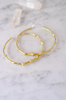 Bat Tail Brass Hoops