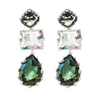Dawn 3 Drop Gemstone Earrings