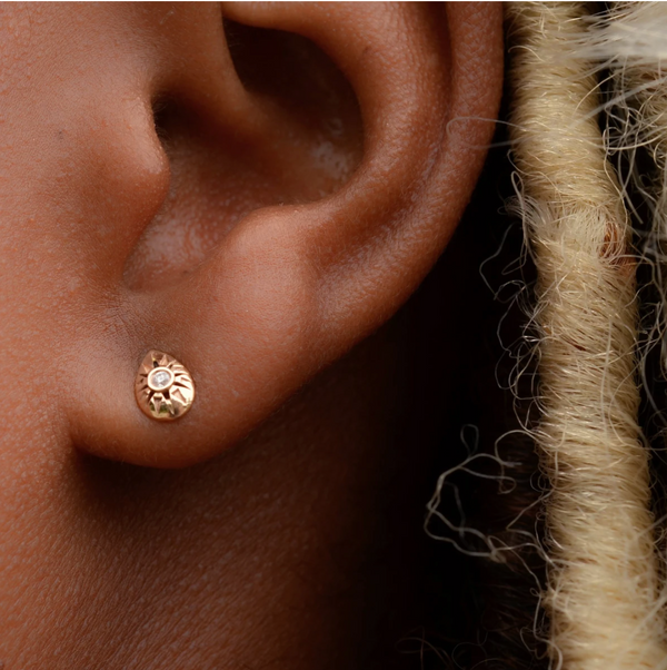 White Diamond Arisaig Studs