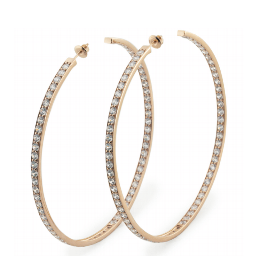 Lucky Yellow Gold Hoops