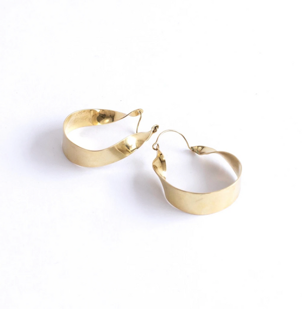 Isabelle Brass Hoops