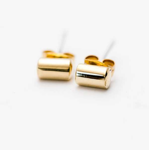 Cylinder Post Earrings