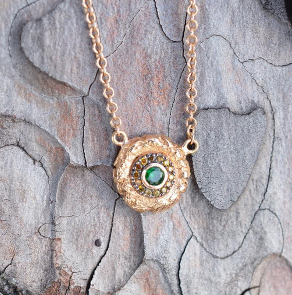 Tsavorite Pebble Necklace
