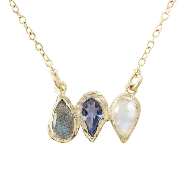 PREORDER Rising Teardrop Trio Necklace