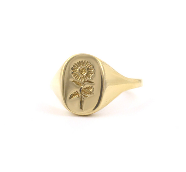 PREORDER Sunflower Signet Ring