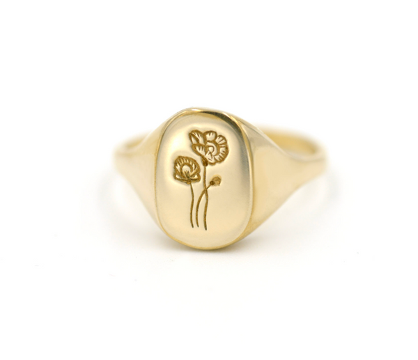 PREORDER Poppy Signet Ring