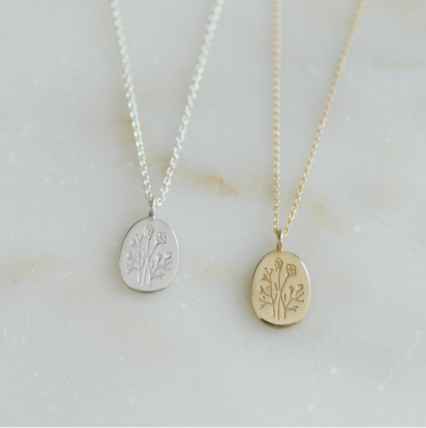 PREORDER Wildflower Brass Pendant