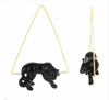 Black Panther Triangle Earrings