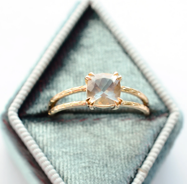 Sunstone Double Band Ring