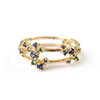 Sapphire + Emerald Double Band