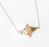 Brass + Stone Dual Tri Necklace