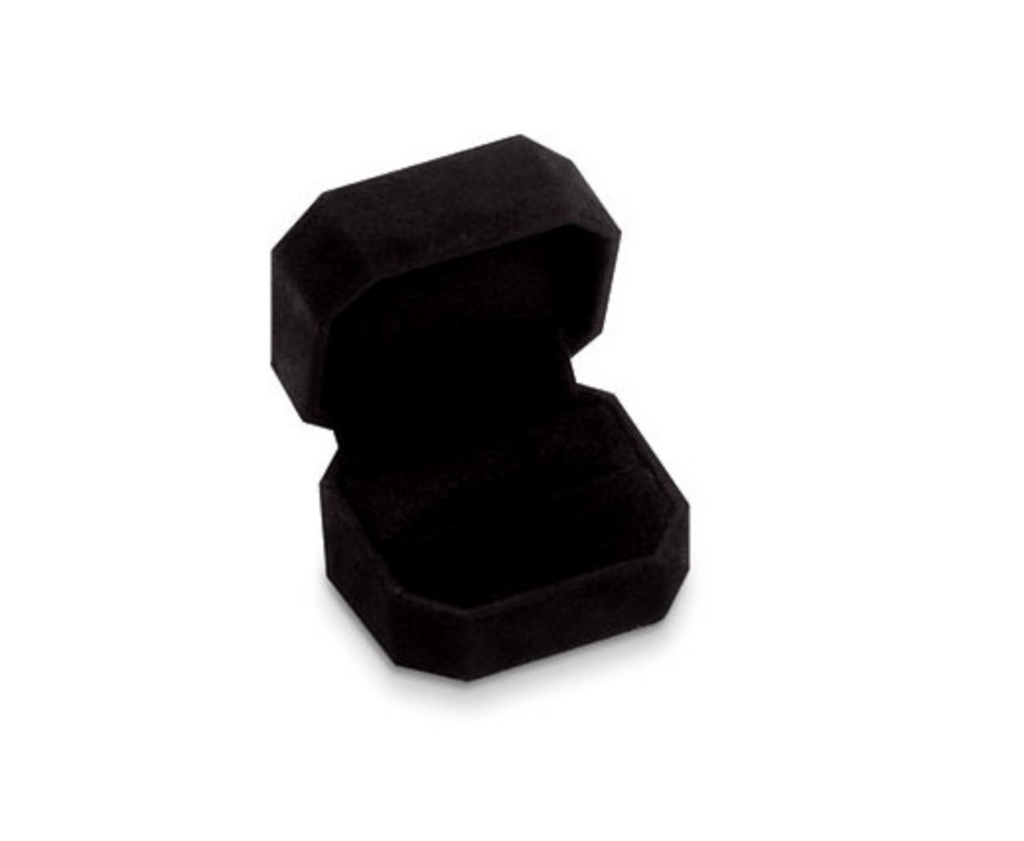Black Velvet Ring Boxes