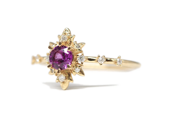 Rhodolite Termina 14K Diamond Ring Adornment And Theory
