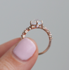 Champagne Intertwine Ring