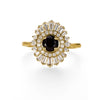 Onyx Double Halo Engagement Ring