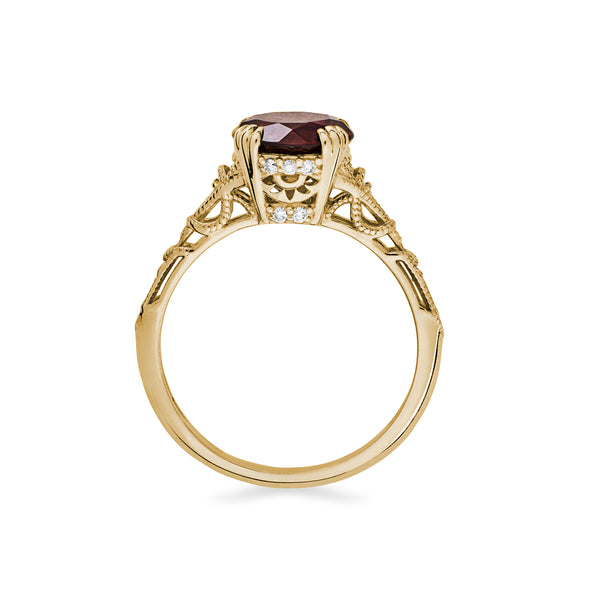 Hayley Ring in Garnet