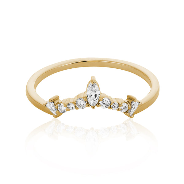 Edie Diamond Arc Halo Band