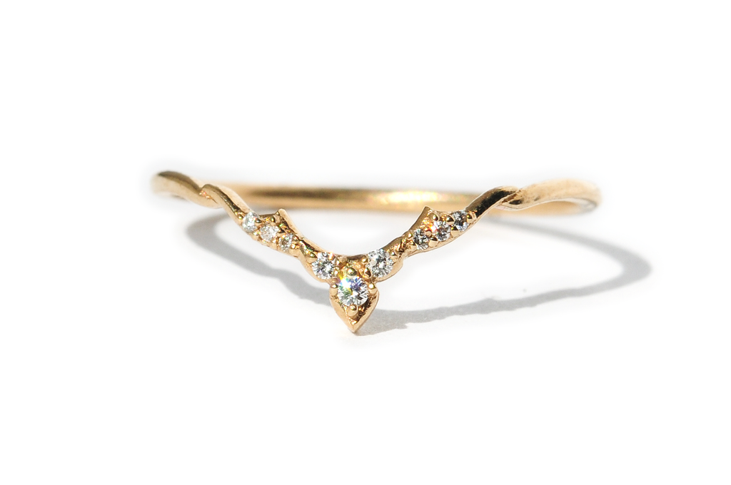Altair 14K Diamond Arc Band