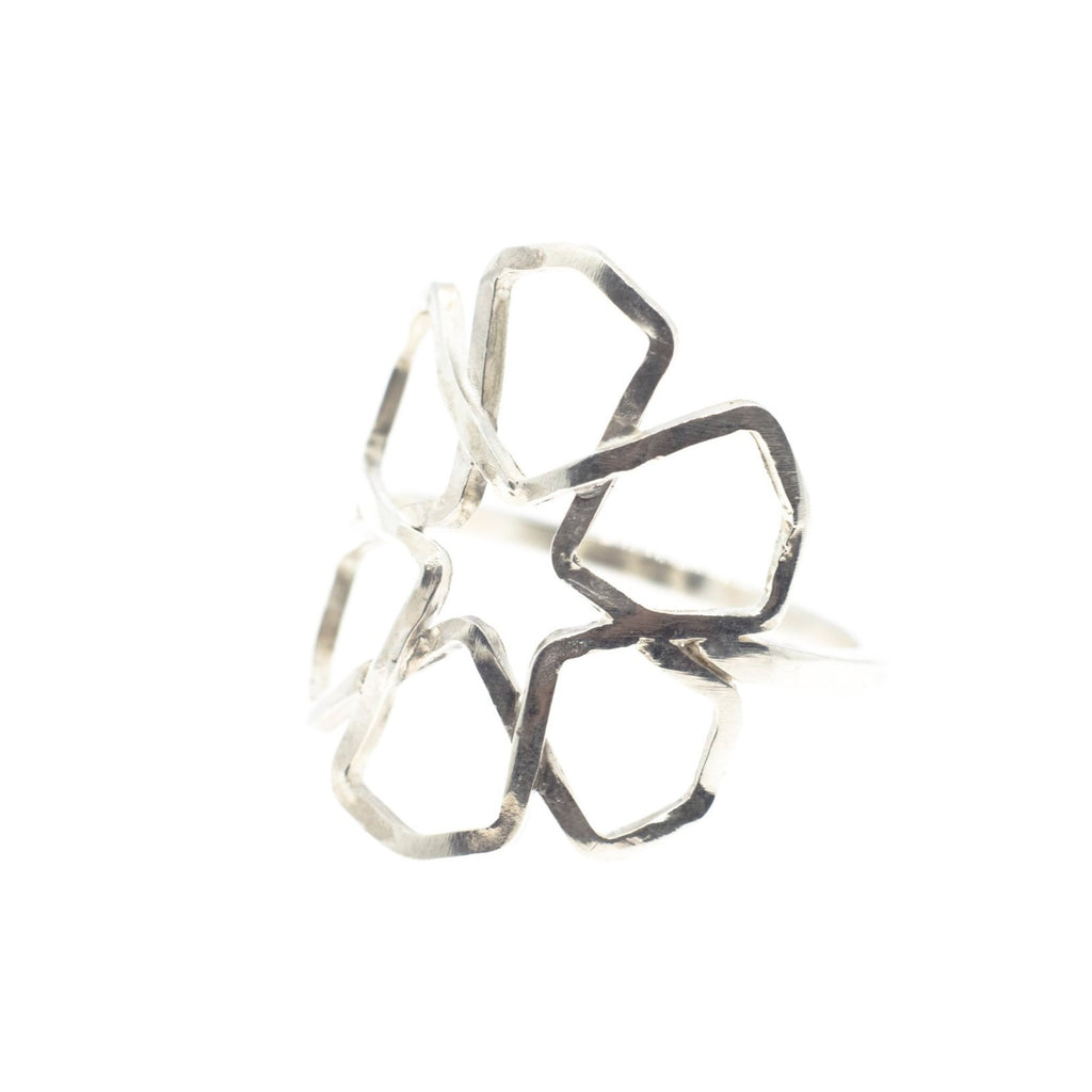 Silver Flower Tessellation Ring