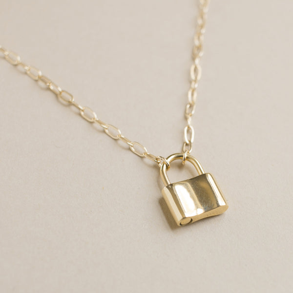 Lock Charm Necklace