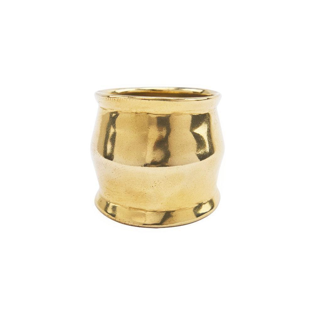 Wide Band Brass Ring